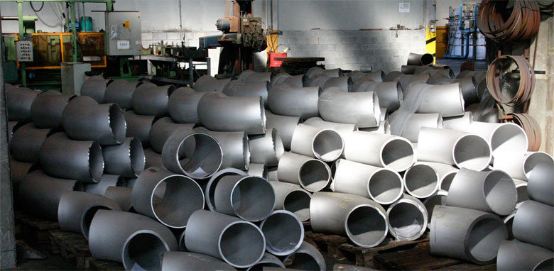 Alloy Steel Pipe Fittings in our Stockyard