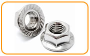 Nickel 200 Serrated Flange Nut